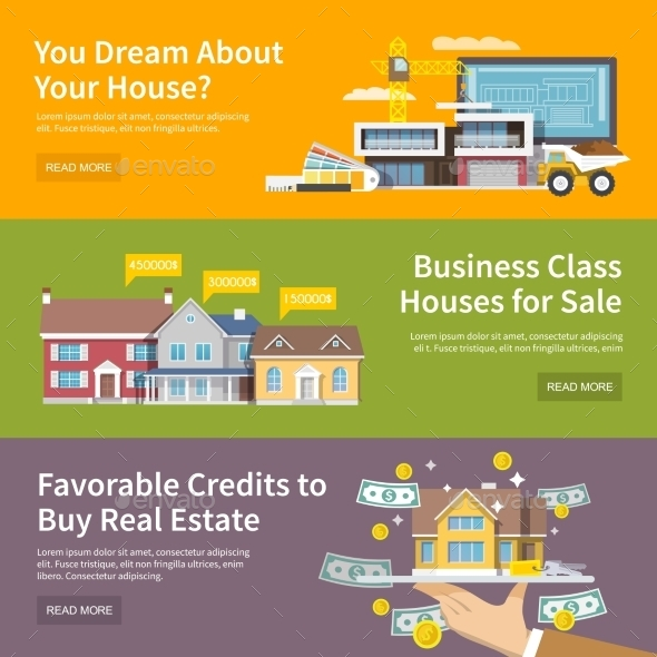 GraphicRiver House Banner Set 11620643