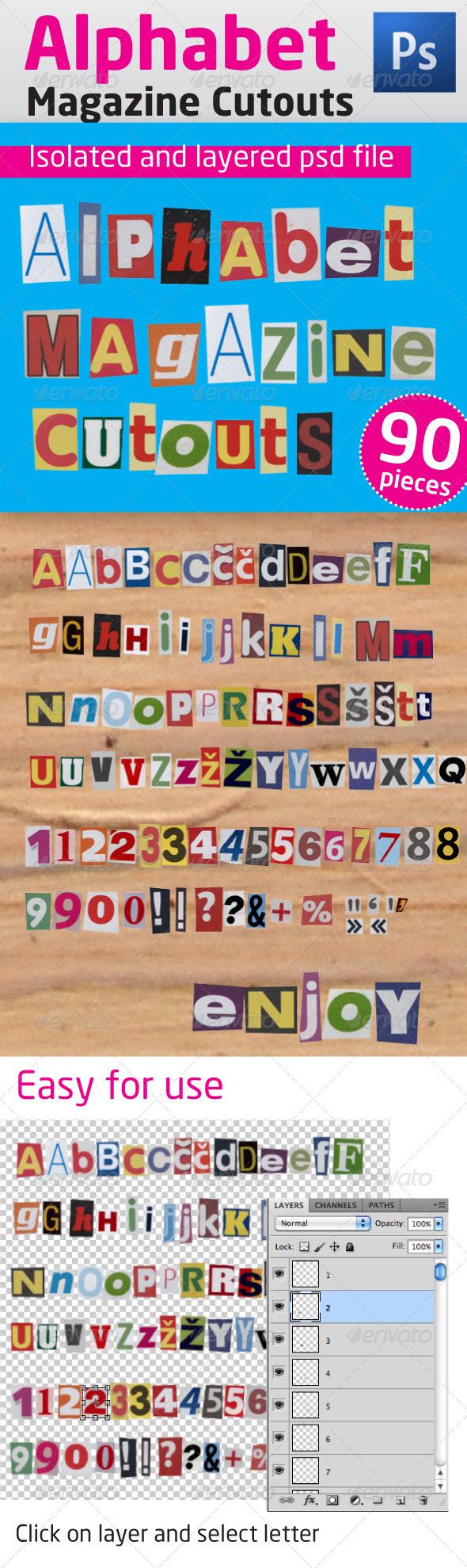 GraphicRiver Alphabet Magazine Cutouts 1166074