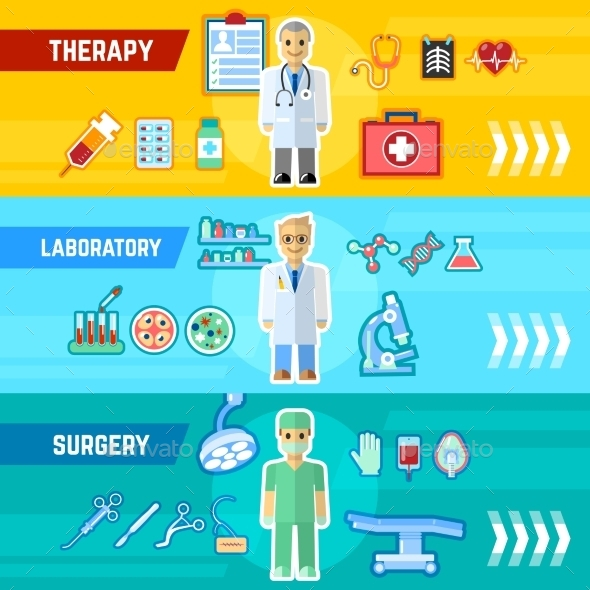 GraphicRiver Doctor Banner Set 11620650