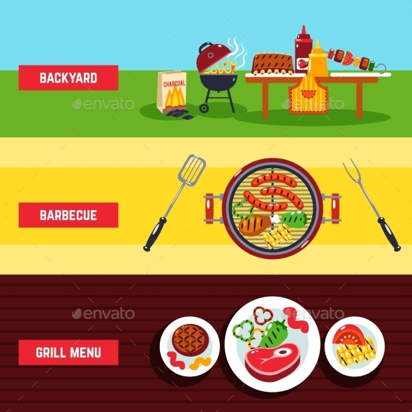 GraphicRiver Barbecue Banner Set 11620660