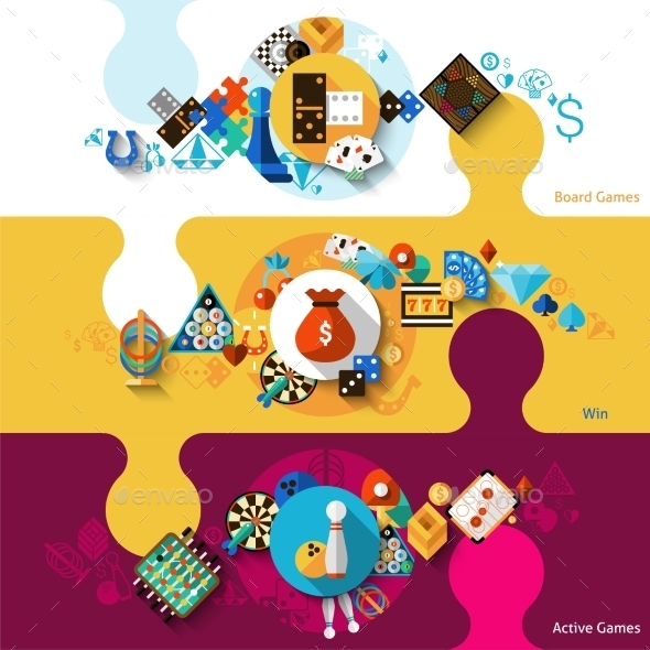 GraphicRiver Games Banner Set 11620679