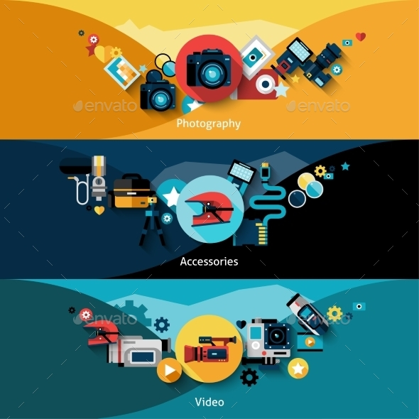 GraphicRiver Camera Banners Set 11620685
