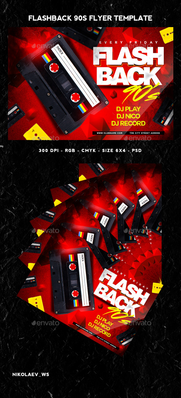 GraphicRiver Flashback 90s Flyer 11620756