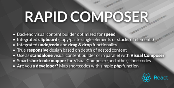 CodeCanyon Rapid Composer Visual Content Builder 11620794