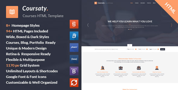 ThemeForest Coursaty Courses HTML Template 11560407