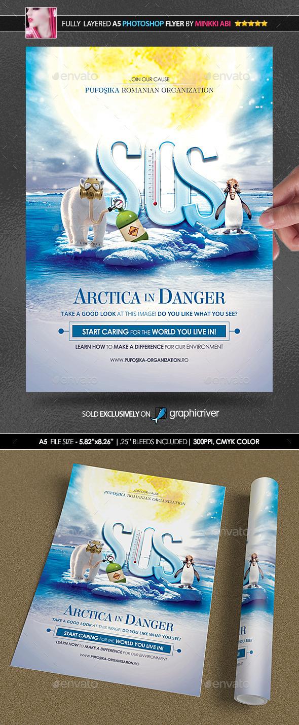 GraphicRiver SOS Arctica Poster Flyer 11620802