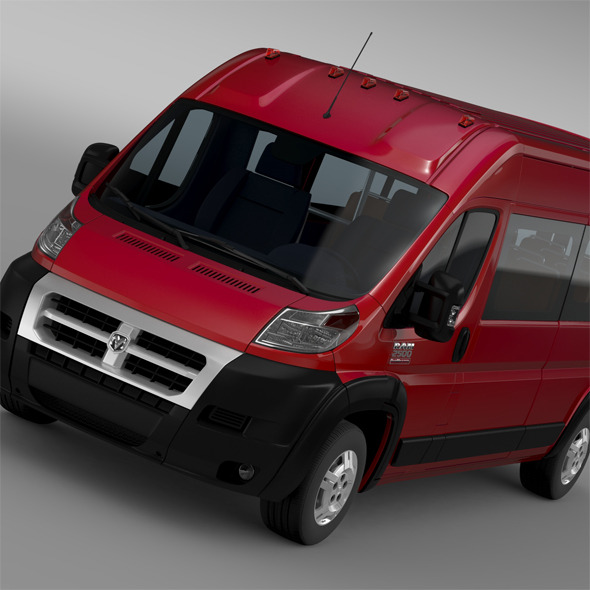 3DOcean Ram Promaster Window Van 2500 HR 159WB 2015 11620806