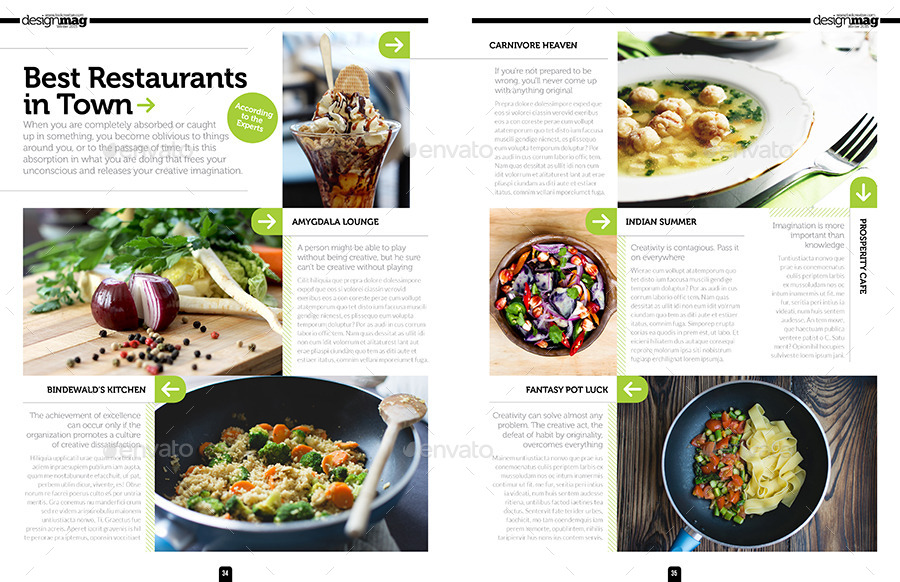 Magazine template bundle indesign layout v by