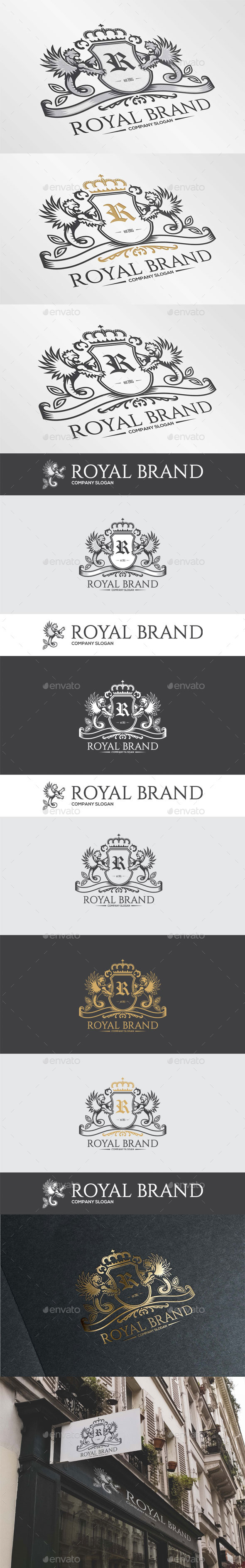 GraphicRiver Royal Brand Heraldy Logo Template 11603509
