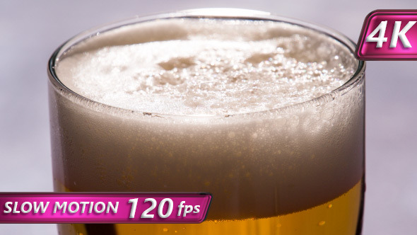 VideoHive Bubbles and Foam in a Glass of Beer 11621338