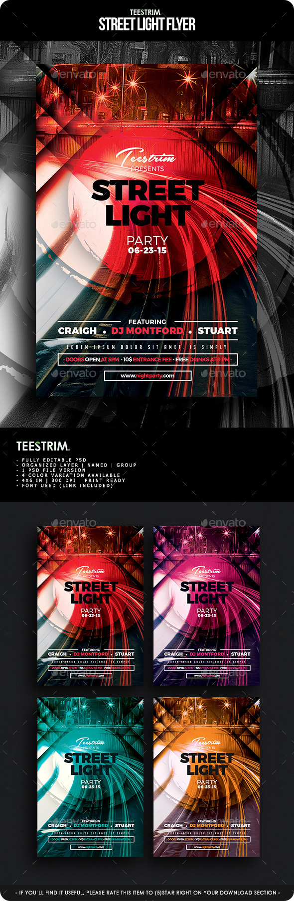 GraphicRiver Street Light Flyer Template 11621552