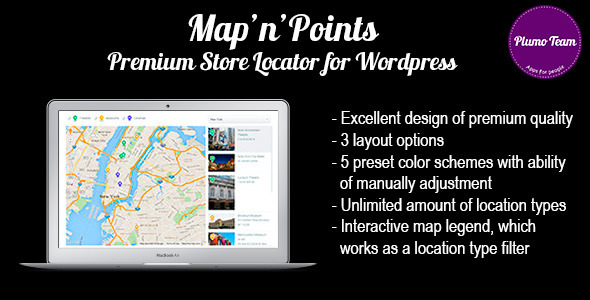 Map'n'Points. Premium Store Locator for WordPress
