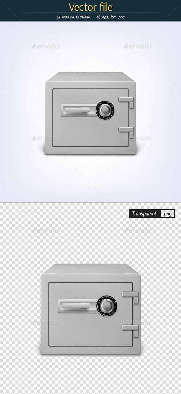 GraphicRiver Metal Safe with Combination Lock 11622545