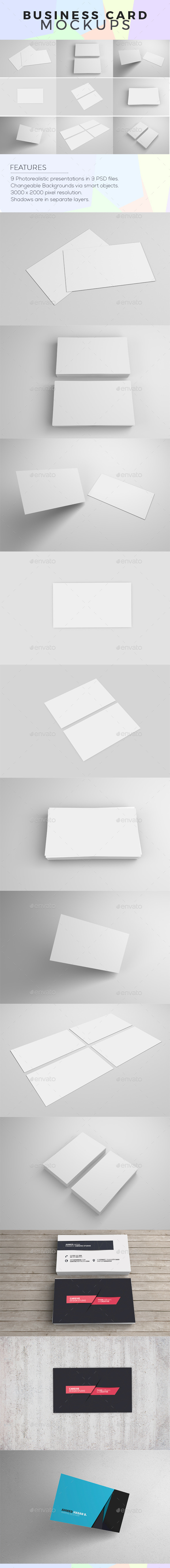 GraphicRiver Business Card Mock-Ups 11622794