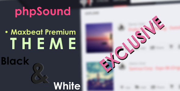 CodeCanyon Maxbeat Premium theme for phpSound 11581576