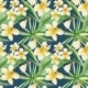 Tropical Pattern On Blue Background - GraphicRiver Item for Sale