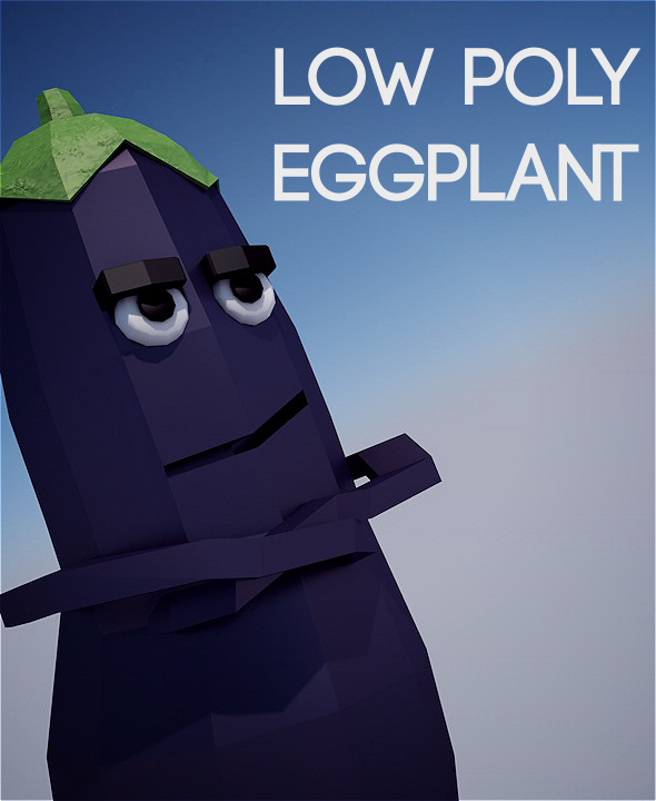3DOcean Low poly eggplant 11623173