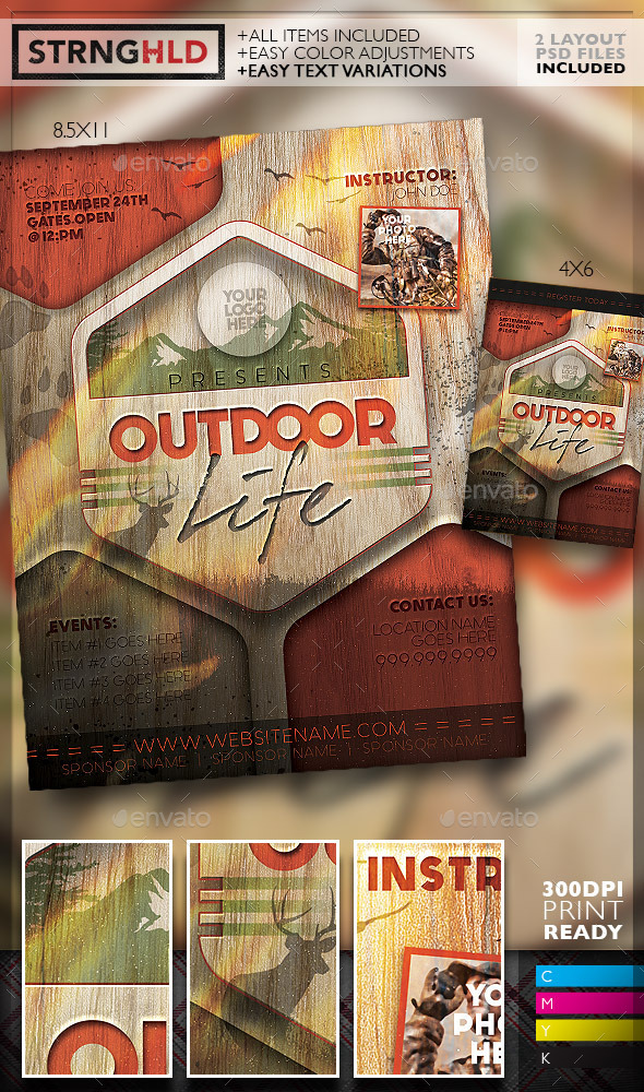GraphicRiver Vintage Outdoor Hunting Poster Template 11623359