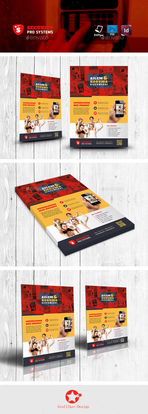 GraphicRiver Security Systems Flyer Templates 11623435