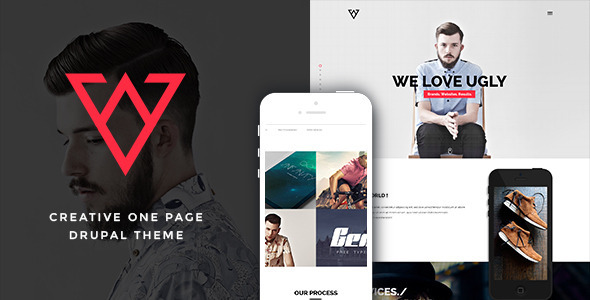 ThemeForest Viska Creative One Page Drupal Theme 11623516