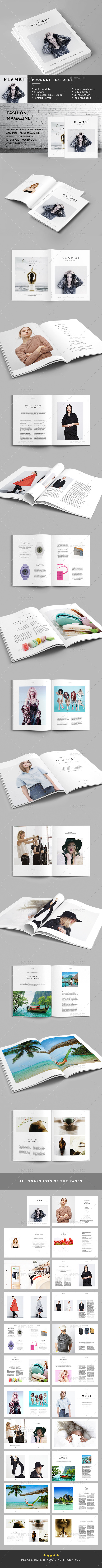 GraphicRiver Fashion Magazine Template 11623690