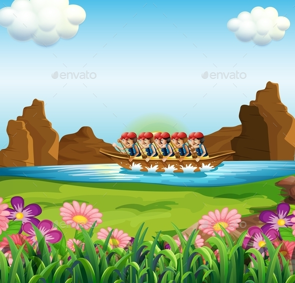 GraphicRiver Group of Men Boating 11623822