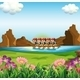 Group of Men Boating - GraphicRiver Item for Sale
