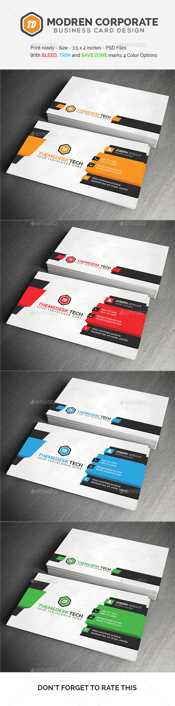 GraphicRiver Modern Corporate Business Card 11554071