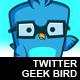 Twitter Geek Bird - GraphicRiver Item for Sale