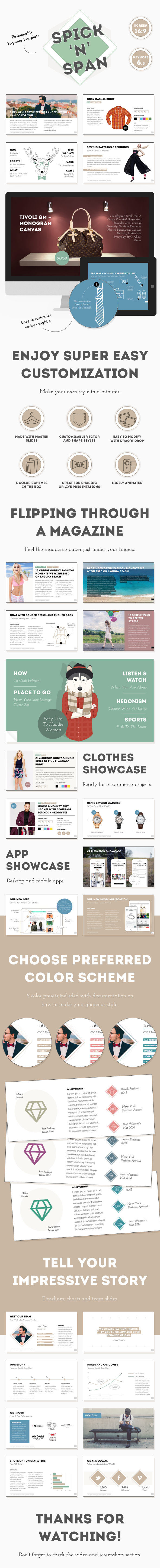 GraphicRiver Spick and Span Fashionable Keynote Template 11624103