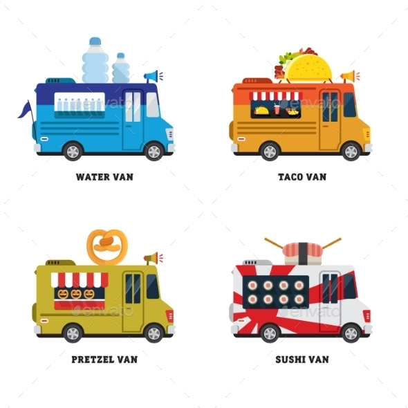 GraphicRiver Street Food Van 11624118