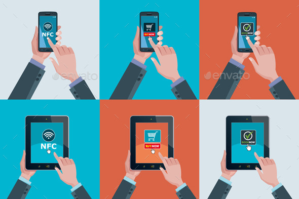 GraphicRiver Hands Smartphones and Tablets 11624226