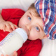 Hungry little boy drinking milk - PhotoDune Item for Sale