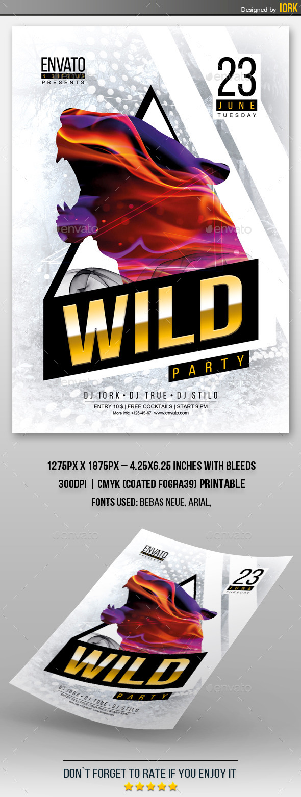 GraphicRiver Wild Party Flyer 11624378