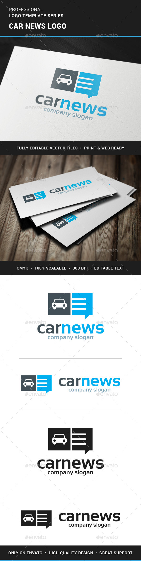 Car News Logo Template