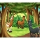 Forest with Three Smiling Horses - GraphicRiver Item for Sale