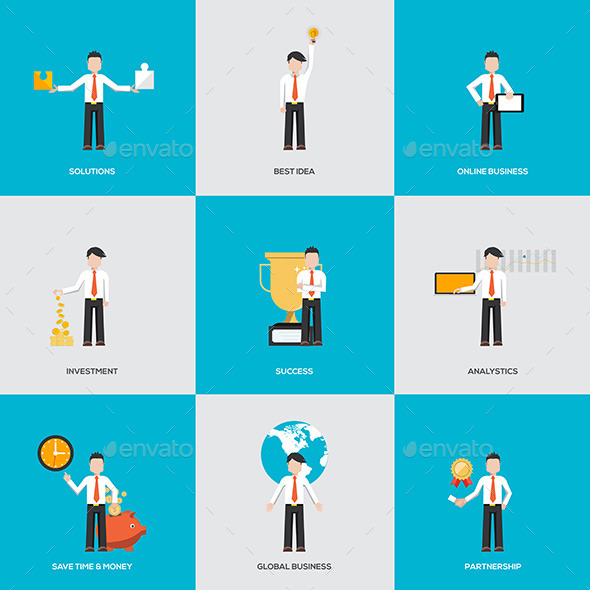 GraphicRiver Business People in Various Characters 11624803