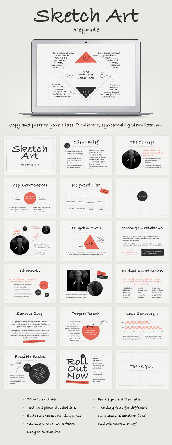 GraphicRiver Sketch Art Keynote Template 11624808