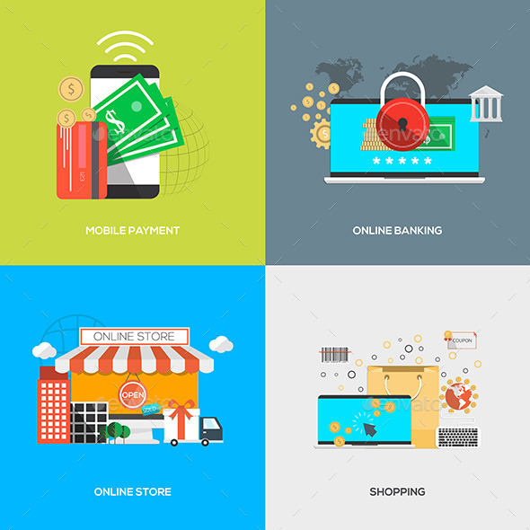 GraphicRiver Flat Designed Concepts 11624827