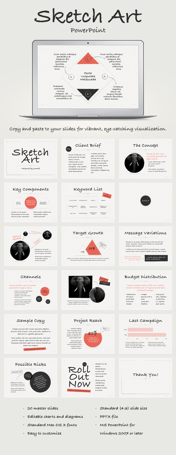 GraphicRiver Sketch Art PowerPoint Template 11624830