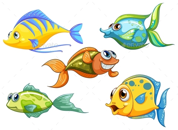 GraphicRiver Five Colorful Fishes 11624839