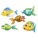 Five Colorful Fishes - GraphicRiver Item for Sale