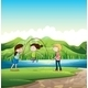 Three Kids Playing Near the River - GraphicRiver Item for Sale
