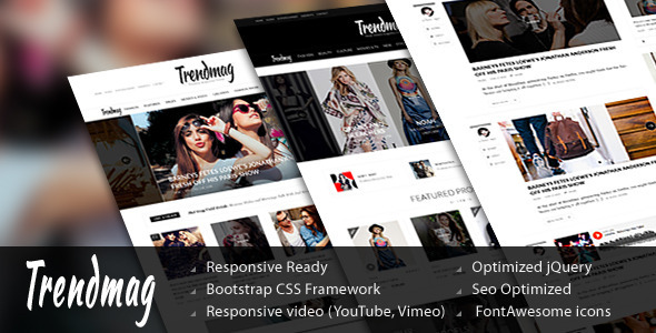 Trend Mag - HTML5 Magazine Template