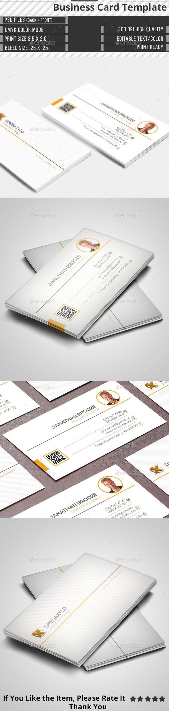 GraphicRiver Corporate Business Card 11625226