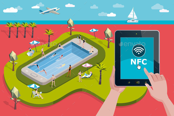 GraphicRiver Vacation Resort and NFC Technology 11625465