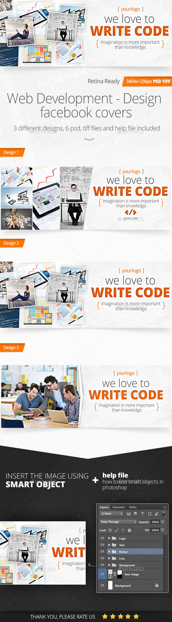 GraphicRiver Web Development Design Facebook Covers 11625506