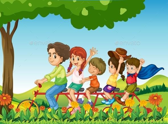 GraphicRiver Family Biking 11625515