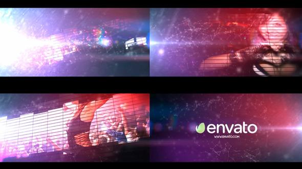 AE模板:时尚方块 俱乐部 舞蹈 音乐频道片头开场 电视栏目包装幻灯片模板Equalizer Logo | Intro