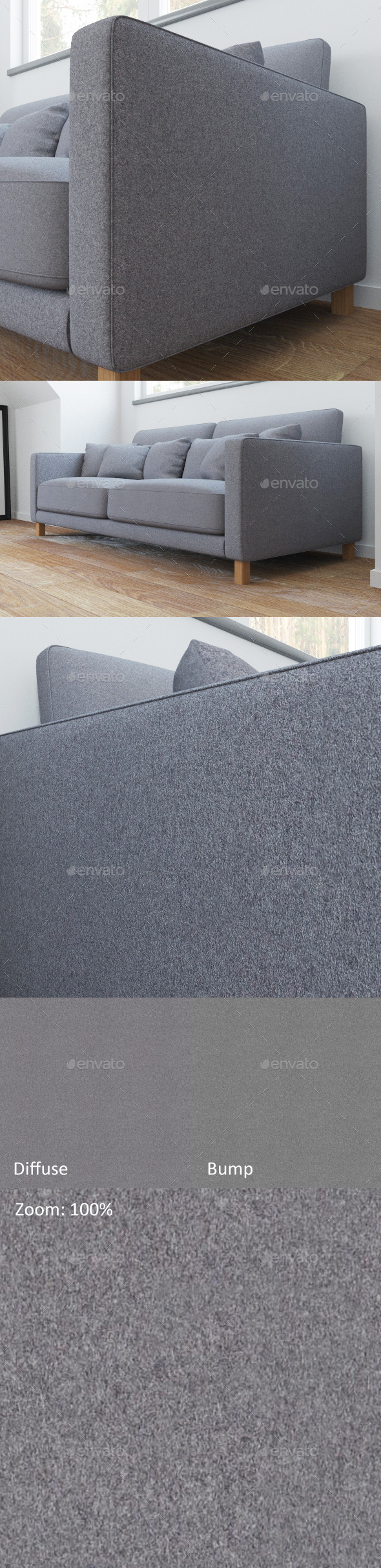 Gray wool texture - 3DOcean Item for Sale